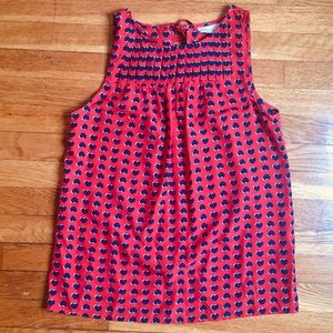 Kenar sleeveless blouse with hearts